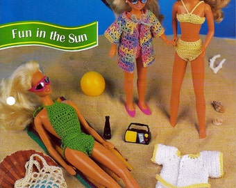 Fun in the Sun Crochet Pattern Annies Fashion Doll Crochet Club FCC11-01