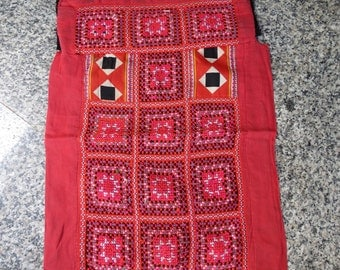 Vintage Hmong fabric Handmade Fabrics, handmade tapestry textiles, hill tribal fabric