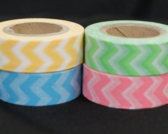 Seriously Chevron Washi Tape Set of 4