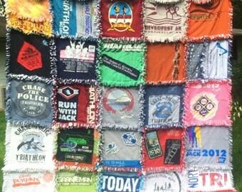 Keepsake T Shirt Quilt Ragstyle Quilt