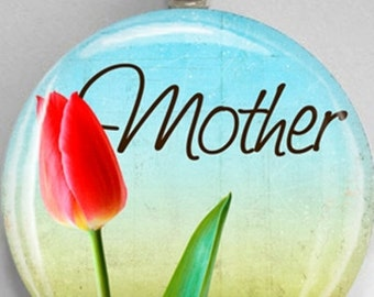 Interchangeable Magnetic Mother Tulip #27 Mother's Day Pendant Necklace