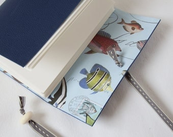 Fishing Journal Notebook Leather Hand bound Sketchbook A6