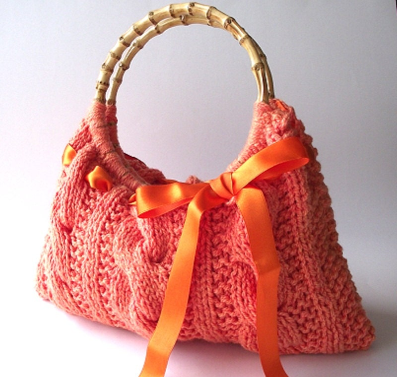 Knitting Bag Patterns Beginners : KNITTING PATTERN Handbag Lucia Bag Bag with by LiliaCraftParty