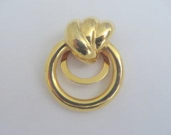Vintage Gold Tone Large Scarf Clip