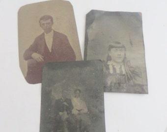 3 Antique Tin Types