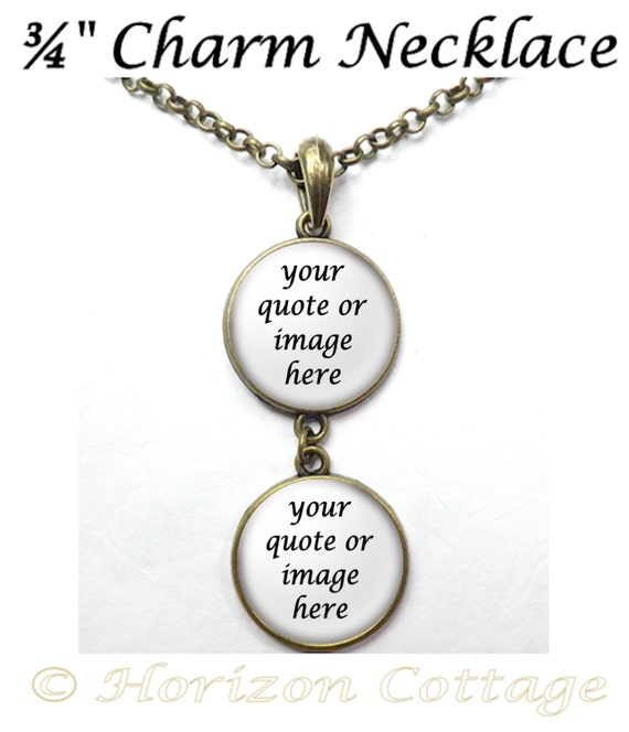 how to put multiple charms on a necklace