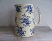 Shabby Chic style pitcher- Free Shipping