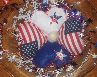 American Flag Hearts, Red White Blue Hearts Great for Valentines Day
