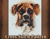 Puppy Painting Cross Stitch Pattern Instant Download pdf Design