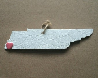 Memphis, Tennessee Handmade Clay Ornament
