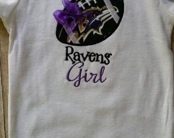 Baltimore Raven's Girl Shirt