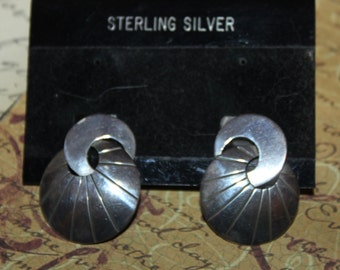ArT DeCo Sterling Silver Pierced Earrings