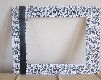 Black Floral Matte, Black and White Matte for Frame, Decorative Wedding Matte, Elegant Frame Mattes, 11x14 Floral Matte, 8x10 Mattes
