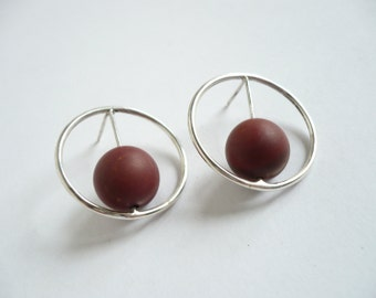 sterling silver hoops with mokite