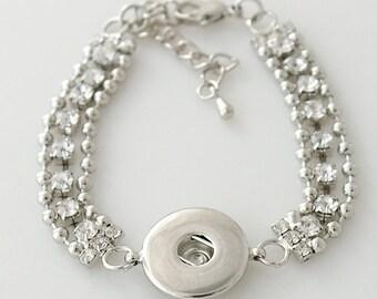 "1 Bracelet - 6.25"" FITS 18MM Candy Snap Charm Jewelry Silver kb3312 CJ0104"