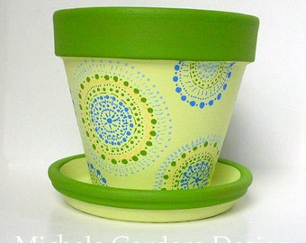 Barb's Green & Blue Dots - 6-inch