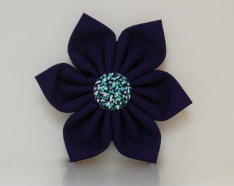 Purple Green Abstract Dot Dog Collar Flower Wedding Accessories Spring Easter Summer Collar Made to Order