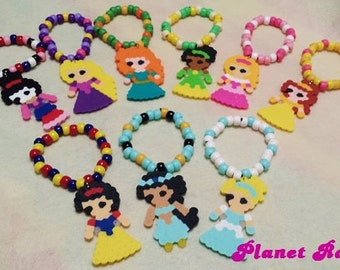 Disney Princess Kandi Bracelets - Rave - Festival - Made to order