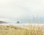 Oregon Beach Photography - Haystack Rock - Cannon Beach - Oregon Photo - Fine Art Photograph - Oregon Coast - White Green Blue Home Decor