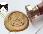 S1306 Cat Face Wax Seal Stamp , Sealing wax stamp, wax stamp, sealing stamp