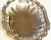 """Gorham """"Heritage"""" Silver Plate Candy Nut Dish 8 1/2"""" x 5"""" Vintage 1970s"""