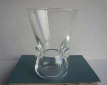 Vintage Scandinavian Modern Glass Vase