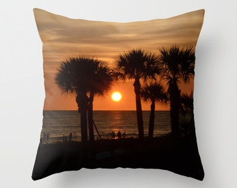 Beautiful Siesta Sunset Throw Pillow Cover