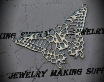 Genuine Sterling Silver Monarch Butterfly Pendant Connector