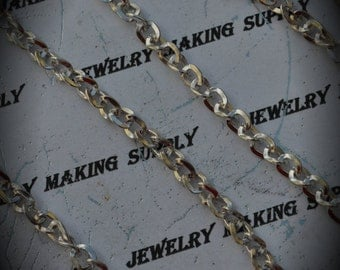 48 Inch Silver Plated Curved Cable 5mm Chain