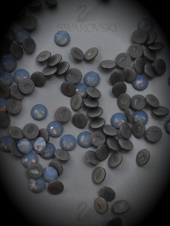 4mm Air Blue Opal HotFix Flat back Crystallized Swarovski Crystals