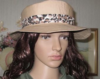 Khaki Safari Fabric Garden Beach Sun Hat