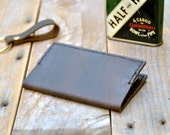 Extra Small Coffee Brown Leather Moleskine Notebook Cover