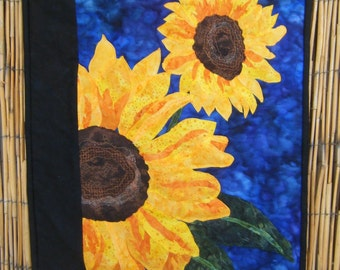 Gorgeous Quilted Sunflower Wall Hanging - Handmade By Me