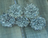 Silver Beaded Flower Knob