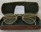 Vintage Fulvue Wire Frame Eye Glasses 1/10 12K Gold Filled With Case 1920s Eye Ware Lot CC