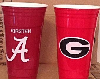 Collegiate Party Cups- 32 Ounce-Nonbreakable