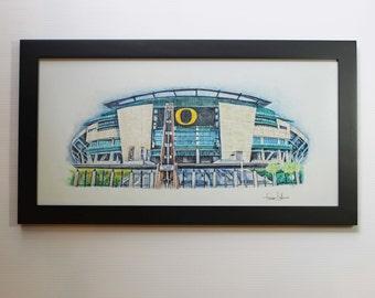 University of Oregon Ducks Print Portland Wall Art Decor