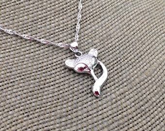 Sterling Silver Fox Charm Necklace