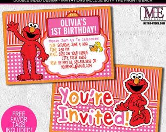 Elmo Invitations, Elmo Birthday Invitations