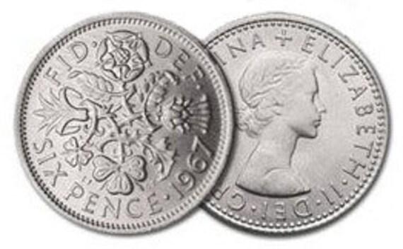 Wedding Sixpence Coin FREE USA SHIPPING - Lucky Wedding Sixpence for the Bride