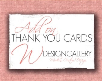 Add On matching Folded Thank You Cards (5.5x4.25 Folded)