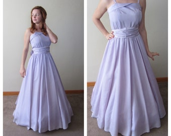 Lilac 1940's Formal Gown Floor Length 40's Party Dress Purple Evening Dress