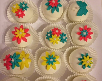 Birthday Cake Mothers Day Cake Balls Or Cake Pops  Gift  Box 1 Dozen  or any Occasion