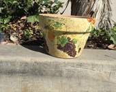 FLOWER CLAY POT / Garden Clay Pot / Planters & Pots / Hand painted pot / Gift flower Clay Pot / Terra Cotta pots / Decoupage Garden Art