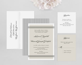 Wedding Invitation Modern Sample - Alden - Wedding Invitation, Modern Wedding Invitation, Modern Wedding Invitations, Wedding Invitations