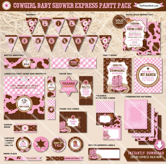 Cowgirl Baby Shower Decorations Cowgirl Baby Shower Decor
