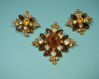 Classic Judy Lee Vintage Jewelry Set, Flamboyant Autumn Colors