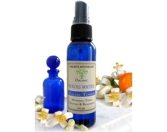 Organic NEROLI Water & Vegetable GLYCERIN Facial TONER Perfect  for all skin types