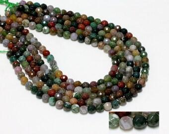 "GU-1659-2 - Fancy Jasper Faceted Round Beads - 6mm - Gemstone Beads - 16"" Full Strand"