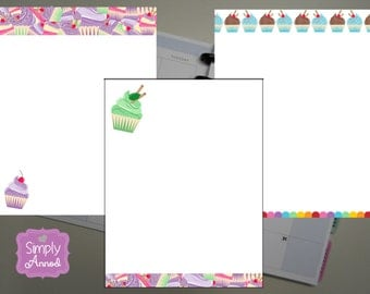 PRINTED Add-On: Cupcake Notes Pages, Happy Planner Size